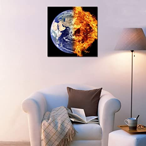 framed prints for kitchens white kitchen island 地球帆布墙壁艺术外太空行星帆布画墙贴花拉伸和框架宇宙帆布艺术微喷印刷 地球帆布墙壁艺术外太空行星帆布画墙贴花拉伸和框架宇宙
