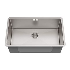 Kraus Kitchen Sinks Outside Ideas 美国kraus 克劳思1 5mm厚304不锈钢拉丝单盆厨房水槽手工制作台下式安装 5mm厚304不锈钢拉丝单盆厨房水槽手工