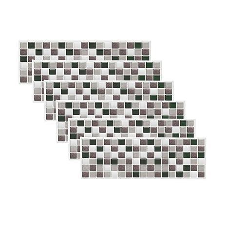 mosaic backsplash kitchen americana decor bobotile 黑色混合马赛克3d 墙贴家居装饰防火后挡板壁纸浴室厨房diy 简单 墙贴家居装饰防火后挡板壁纸浴室厨房