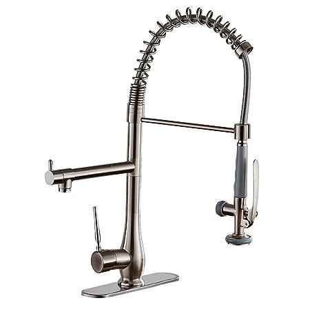 kitchen sink at lowes sears appliance package deals eyekepper 拉丝镍厨房水槽水龙头down 喷雾器混合器taps bar 水槽水龙头阀 水槽水龙头阀杆