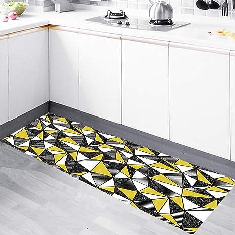 kitchen rugs amazon cabinet clearance 北欧厨房地毯现代简约几何地垫防油长条脚垫子家用卧室床边毯几何3 长条 北欧厨房地毯现代简约几何地垫防油长条脚垫子家用卧室