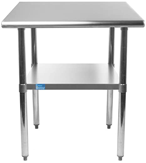 zinc kitchen table mini kitchens amgood 不锈钢架下工作桌 厨房岛食品预备桌 洗衣车库实用长凳 nsf 洗衣车库实用