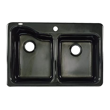36 inch kitchen sink industrial kitchens american standard 轮廓33 by 22 双碗厨房水槽 龙头孔 家居装修