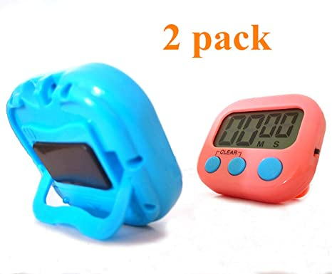digital kitchen timers organizer ideas runlit 6 件装数字厨房计时器 烹饪计时器时钟 大液晶屏幕 大闹钟 强 大液晶