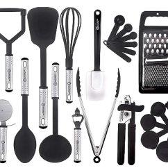 Kitchen Utensils Set Glass Door Cabinets 厨房用具套装 23 个尼龙烹饪用具 厨房用具铲子 厨房厨房用具炊具套装 厨房厨房