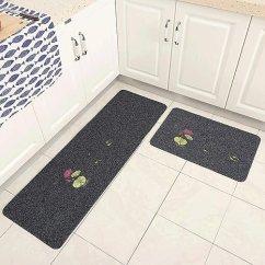 Kitchen Rugs Amazon Hand Towels For The 可手洗厨房地垫长条家用耐脏地垫厨房地毯垫子防油可机洗荷塘月色 灰50cm 可手洗厨房地垫长条家用耐脏地垫厨房地毯垫子防
