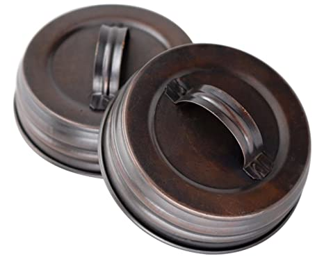 bronze kitchen appliances terry towels 带手柄的油面青铜罐盖 罐头 4 只装 油面青铜regular mouth unknown 油