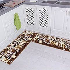 Amazon Kitchen Mat French Country Kitchens Carvapet Comboo 防滑厨房垫橡胶垫门垫跑步毯套装2 Pcs 15x47 Inch 棕色 防滑厨房垫橡胶垫门 已加入购物车