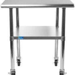 Kitchen Benches The Honest Coupon Amgood 不锈钢工作桌 架子底和4 轮 洗衣车库实用长椅 准备工作桌
