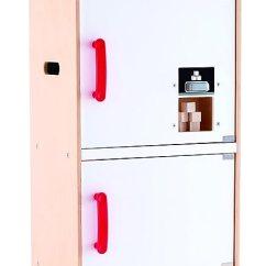 Wood Kitchen Set Unfinished Oak Cabinets Hape 仿木厨房套装 E3153 冰箱冷冻机白色 玩具 亚马逊中国