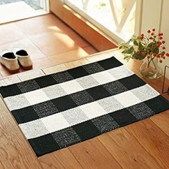 Kitchen Rugs Amazon Hutch Plans Qanahome 棉质浴脚花纹格纹格纹小地毯门垫适用于入门级水洗厨房地毯 棉质浴脚花纹格纹格纹小地毯门垫适用于
