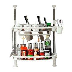 Kitchen Spice Rack Double Sinks For Sale 宝优妮厨房调料架置物架调料瓶收纳架双层厨具储物架刀架调味架dq 1407 宝优妮厨房调料架置物架调料瓶收纳架双层厨具储