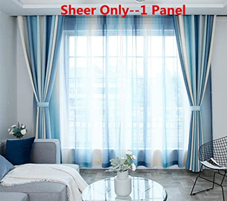 grommet kitchen curtains sink drain plumbing aifish 条纹索环半遮光窗帘84 适用于庭院门经典蓝色米色 象牙色条纹窗帘