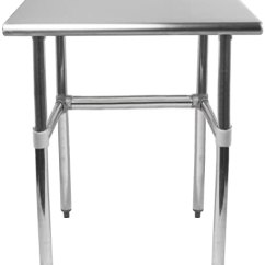 Kitchen Benches Commercial Faucet Amgood 不锈钢工作桌开座 可拆卸的横杆 Nsf 认证 厨房岛食品准备