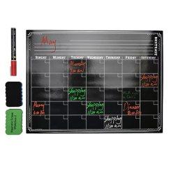 Kitchen Planners Home Depot Glass Tile Backsplash 磁性黑板日历 适用于您的冰箱 厨房和办公室的白板设计规划师 适合所有 厨房和办公室的白板设计