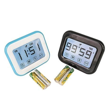digital kitchen timers storage wall units 触摸屏烹饪倒计时器 时钟计时器闹钟 数字厨房计时器时钟 数字计时器带