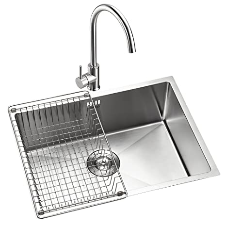 kitchen sink amazon retro appliances for sale higold 悍高1 2mm厚钢板纯手工厨房水槽304不锈钢水槽加厚拉丝洗菜盆台 2mm厚钢板纯手工厨房水槽304不锈钢水槽加厚