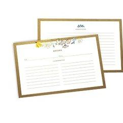 Kitchen Bridal Shower Island Stainless Steel Top 100 张食谱卡4x6 花卉双面索引食谱卡 新娘送礼或生日的送礼佳品花卉色 新娘送礼或