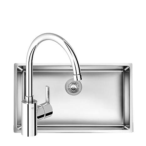 grohe concetto kitchen faucet granite counters 高仪意大利原装进口大单槽水槽厨盆 冷热厨房龙头 亚马逊自营商品 冷热厨房