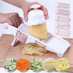 Kitchen Food Slicer Stainless Steel Outdoor Mandoline 切片机蔬菜食品切片机 5 个刀片 蔬菜切片机 食品切片机