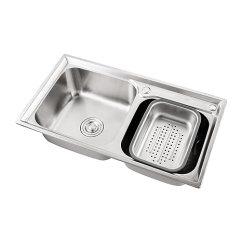Kitchen Sink Amazon Grill Top Enzorodi 安住780mm长304不锈钢一体拉伸厨房水槽双槽洗碗盆 送皂液器