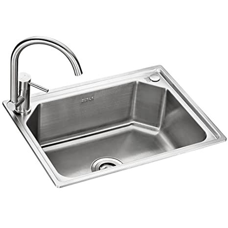 kitchen sink amazon kids wooden 苏泊尔 supor 915843 03 ls 厨房水槽单槽套餐无铅304不锈钢洗菜盆一体 厨房水槽单槽套餐无铅