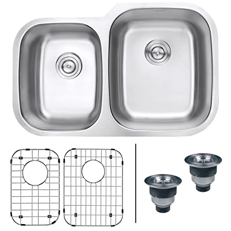 60 40 kitchen sink design house faucets ruvati 81 28 cm 底托40 双碗16 号不锈钢厨房水槽 rvm4315 家居装修