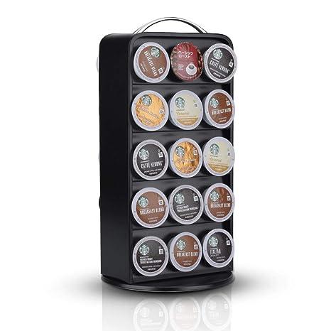 carousel kitchen utensil holder countertops pictures recaps 咖啡胶囊收纳架旋转木马360 度旋转兼容keurig k 杯存储器30 杯