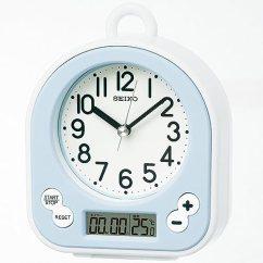 Blue Kitchen Wall Clocks Cabinet Liner Seiko Clock 挂钟生活防水计时显示模拟厨房和浴盆浅蓝色bz358l