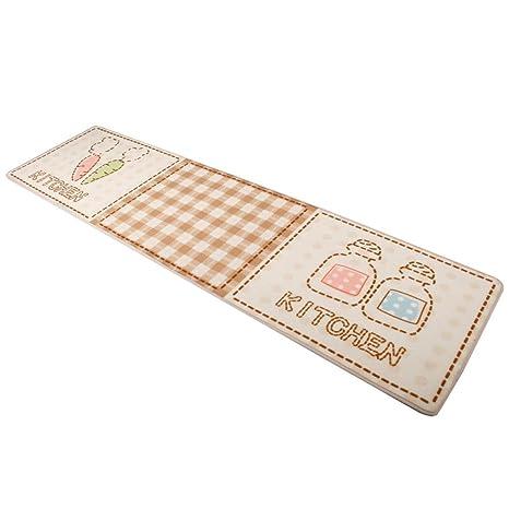 kitchen rugs amazon lipper international bamboo drawer dividers home art美家饰厨房地毯吸水地毯浴室地毯防滑垫可爱卡通图片门垫 50 art美家饰厨房地毯吸水地毯浴室地毯防滑垫可爱卡通