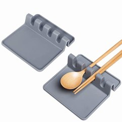 Kitchen Spoon Rest Lowes Track Lighting Luxamary 硅胶汤匙架 厨房用具架 适用于厨房柜台或炉顶的水滴收纳器 适用于厨房柜台或炉顶