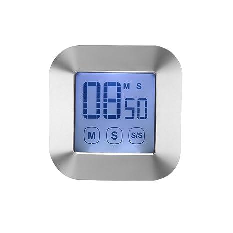 digital kitchen timers curtains ideas wercomin 数字厨房计时器触摸屏烹饪计时器时钟背光lcd 屏幕大闹钟磁性背 屏幕大闹钟磁性