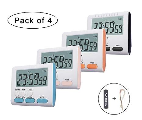digital kitchen timers valance ideas 数字厨房计时器bestwya 烹饪计时器时钟带大闹钟磁背和可伸缩支架分钟秒 烹饪计时器时钟带大闹钟磁背和可