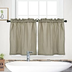 Valances For Kitchen Contemporary Pantry Curtain Valance Waffle Weave 防水窗帘帷幔 适用于浴室 定制的厨房