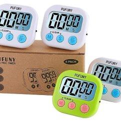 Digital Kitchen Timers Table Sizes Pufuny 数字厨房计时器 烹饪计时器 教师电子计时器 儿童 大显示屏