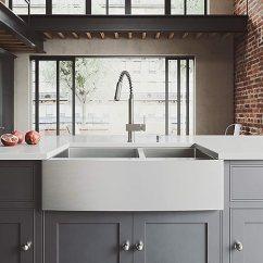 Kitchen Sink Farmhouse Ninja Vigo 83 82 Cm 农舍围裙60 40 双碗16 号不锈钢厨房水槽带铁芯不锈钢 号不锈钢厨房水槽带
