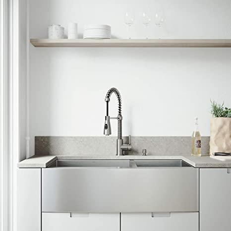 36 inch kitchen sink runner rug vigo 91 4 cm farmhouse 围裙60 40双碗16号不锈钢厨房水槽带brant 40双碗16号不锈钢厨房水槽带
