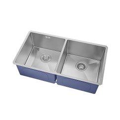Kitchen Sink Amazon Lowes Sinks And Faucets 美国kraus 克劳思1 5mm厚304不锈钢拉丝双盆厨房水槽手工制作台下式安装 5mm厚304不锈钢拉丝双盆厨房水槽手工