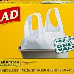 13 Gallon Kitchen Trash Can White Table And Chairs Glad Tall 厨房手柄垃圾袋 白色 加仑 26 个装 个护健康 亚马逊中国
