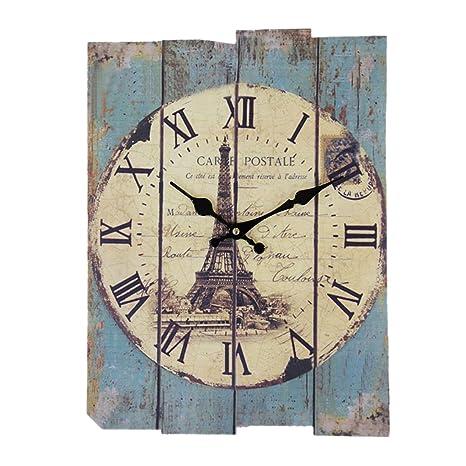 wooden kitchen clock soft flooring options 挂钟 gtkrtu 复古欧式罗马数字设计静音长方形木制挂钟装饰时钟适用于 复古欧式罗马数字设计静音长方形木制挂钟装饰时钟适用