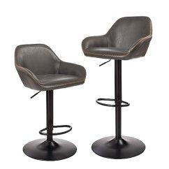 Chrome Kitchen Chairs Storage Carts Glitzhome 复古铬合金餐厅厨房椅人造革 吧凳皮革座椅2 件套 厨具 亚马逊中国 件