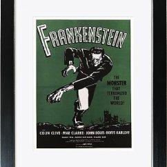 Framed Prints For Kitchens Discount Kitchen Cabinet Hardware 电影 Frankenstein 相框艺术画 印刷品 黑色框架内 正面玻璃 外部尺寸