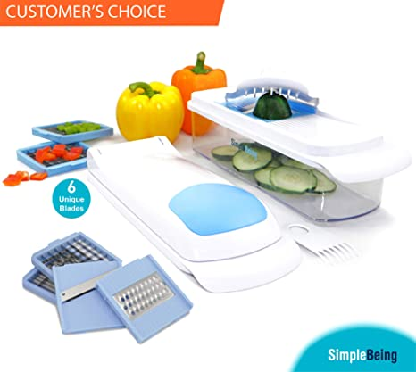 kitchen food slicer where to buy curtains simple being 蔬菜切片机切片机切片机磨刀 6 个可互换不锈钢刀片 个可互