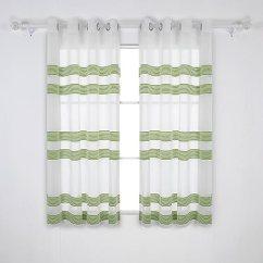 Grommet Kitchen Curtains Dining Tables Deconovo 水平绳索尼尔条纹透明窗帘亚麻外观索环顶部窗帘适用于卧室 W52 水平绳索尼尔条纹透明窗帘亚麻外观索环顶部窗帘适用于