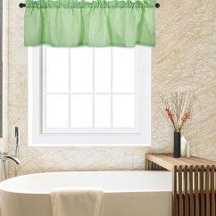 Cafe Kitchen Curtains Magazines Caromio 咖啡厅浴帘厨房窗帘华夫格编织纹理短层窗帘seafoam 绿色60 15