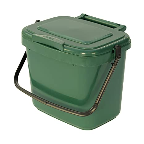 compost bin for kitchen ceiling lights ideas 全绿5 升塑料厨房堆肥篮 带堆肥指南 all green 价格报价图片