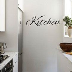 Kitchen Wall Art Rubber Floor Mats 厨房标志 引语墙壁艺术乙烯基贴纸 25 4cm X 71 12cm 装饰乙烯基贴纸