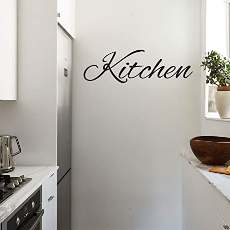 kitchen vinyl cotton rugs 厨房标志 引语墙壁艺术乙烯基贴纸 25 4cm x 71 12cm 装饰乙烯基贴纸