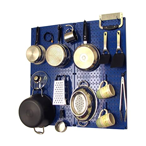 kitchen pegboard tommy bahama table wall control organizer pots and pans pack