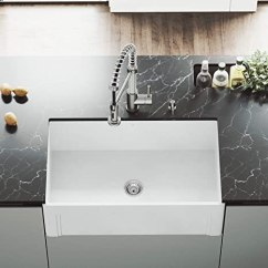 36 Inch Kitchen Sink Exhaust System Vigo Vgra3018sl 91 44 Cm 单人盆地哑光石farmhouse 厨房水槽